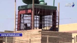 بالفيديو والصور.. محافظة الجيزة تضع اللمسات الأخيرة لتمثال 'زايد' بمدخل مدينة 6 أكتوبر