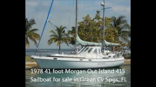 1978 41 foot Morgan Out Island 415 Sailboat for sale in Green Cv Spgs, FL. $60,000.