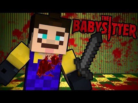 Minecraft The Babysitter - HELLO NEIGHBOR IS MY BABYSITTER?! | Minecraft Scary Roleplay