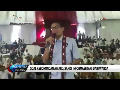 """Soal """"Kebohongan Award"""", Sandiaga Uno: Info Kami dari Rakyat Mp3"""