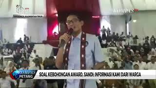 """Soal """"Kebohongan Award"""", Sandiaga Uno: Info Kami dari Rakyat"""