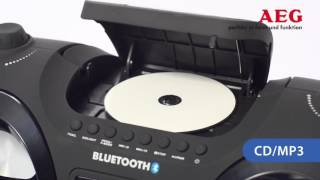 видео Аудио магнитола AEG SR 4353 weis CD/MP3/AUX