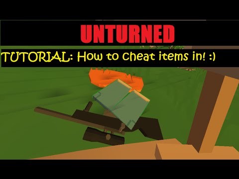 Unturned 3 13 1 0 How to cheat in items! Commands included