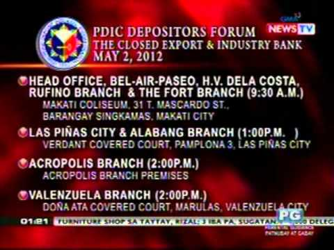 OC: PDIC depositors forum (May 2, 2012)