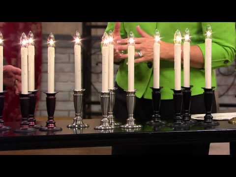Set of 4 Window Candles with Timer by Valerie with Dan Hughes ...