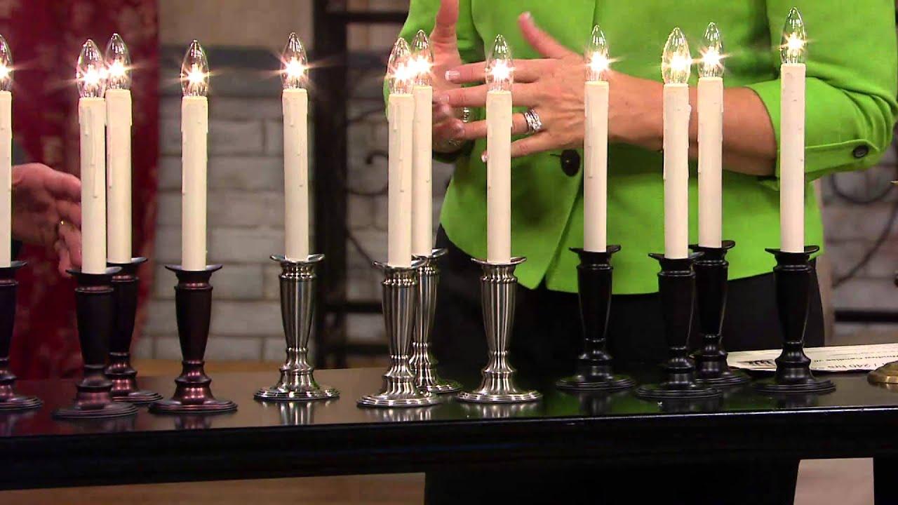 Bethlehem lights window candles with timer - Set Of 4 Window Candles With Timer By Valerie With Dan Hughes