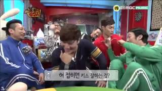 Kim Jong Kook shows his ability to fold his tongue. XD I don't own ...