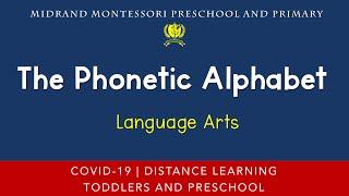 Montessori Language Arts Presentation - The Phonetic Alphabet