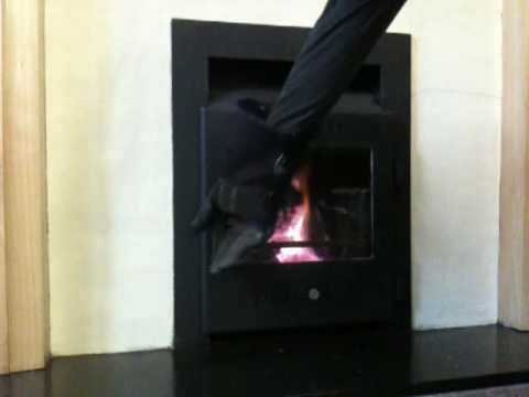 Rutland OPUS 16 WD Door option on convector fire - YouTube