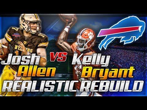 Rebuilding The Buffalo Bills   QB Battle - Josh Allen vs Kelly Bryant   Madden 18 Franchise