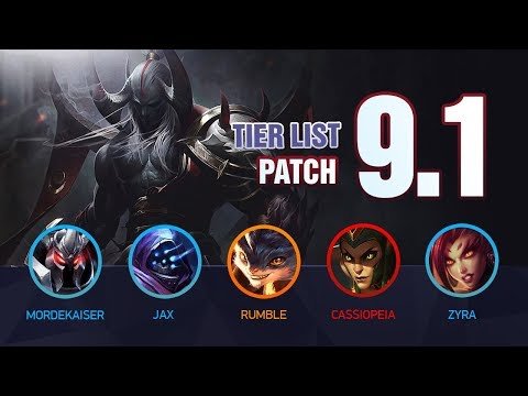 League of Legends Mobalytics Patch 9.1 Tier List: Welcome to Season 9