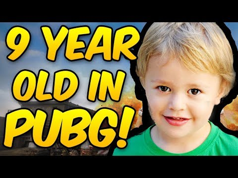 9 YEAR OLD PLAYS PUBG! Hilarious Game