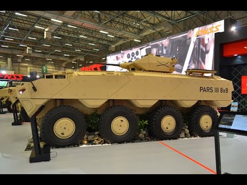 PARS III 3 review 6x6 8x8 wheeled armoured combat vehicle FNSS Turkey Turkish defense industry IDEF