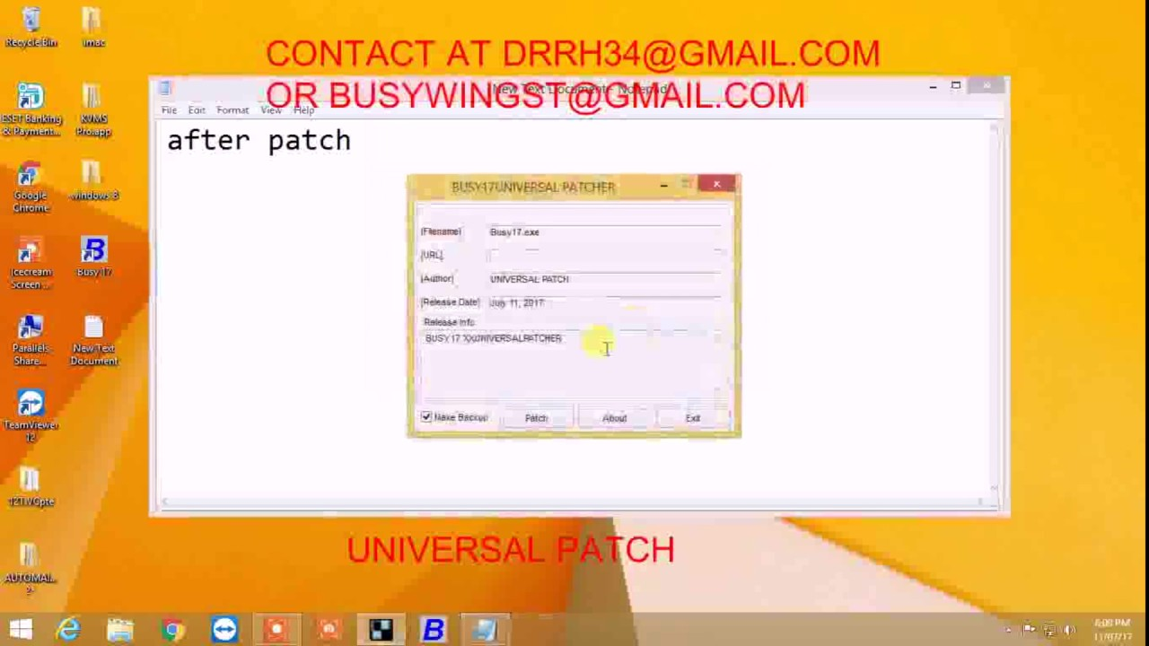 Busywin 17/18 universal patcher