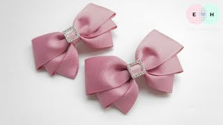Laço De Fita 🎀 Ribbon Bow Tutorial #45 🎀 DIY by Elysia Handmade