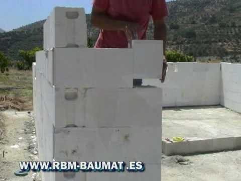 Colocacion de bloques hormigon celular lemga youtube - Bloques para muros ...