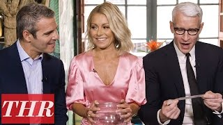 Anderson Cooper, Kelly Ripa & Andy Cohen on Celebrity Crushes & Oprah | THR Fishing For Answers