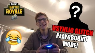 INVISIBLE GLITCH AT PLAYGROUND MODE?! 😱😂 (FORTNITE BATTLE ROYALE)