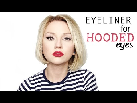 how to put eyeliner on hooded eyes