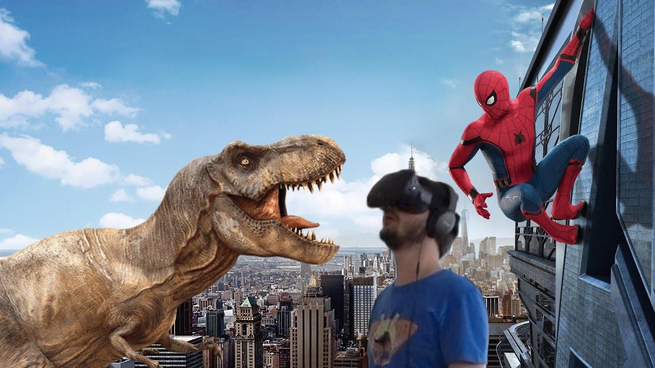 Vr uomo ragno e dinosauri youtube