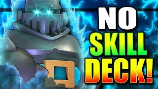 The EASIEST DECK in Clash Royale HISTORY!? NO SKILL NEEDED!!