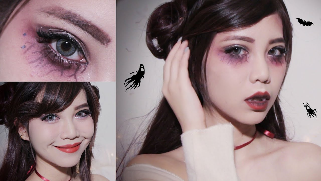 Easy Halloween makeup l Cute Vampire - YouTube