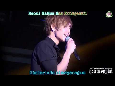 Kim Hyun Joong - Because I'm Stupid Karaoke[Türkçe Altyazı]