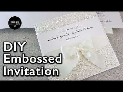 How to make a romantic embossed wedding invitation | DIY Wedding Invitations