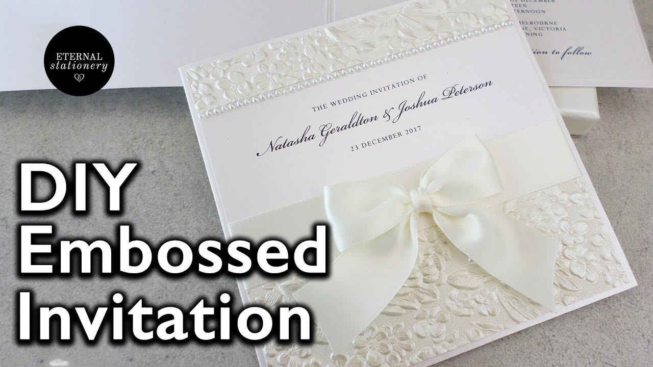 Diy Embossed Wedding Invitations