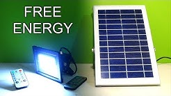The Best Free Energy from Solar Flood Lights with Remote Control Review