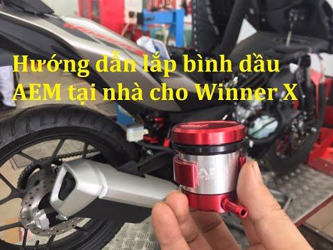 Hướng dẫn lắp bình dầu AEM cho Winner X   Exciter   Raider   Satria