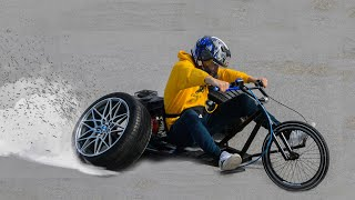 Homemade 200CC BMX Trike With CAR TIRES !? Part 2 🔥TEST🔥