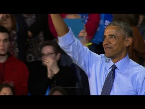 Thumbnail: Obama tells story of famed chant: Fired up, ready to go