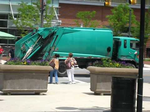 Baltimore DPW Solid Waste Truck (in traffic)