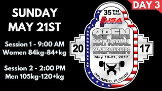 Day 3 - 2017 USA Powerlifting Open Nationals thumbnail