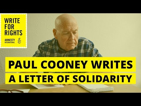 Paul Cooney writes a letter to imprisoned journalist Cihan Acar - Write for Rights