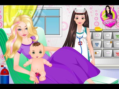 Barbie Spiele - Barbie neugeborenes Schätzchen (Barbie Newborn Baby)