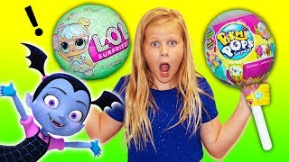 Assistant Plays with LOL and Pickmi Pops Surprises with Vampirina