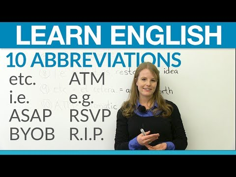 Learn English: 10 abbreviations you should know