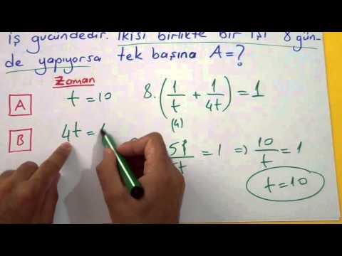 İşçi Havuz Problemleri 1 (İşçi Problemleri) Şenol Hoca Matematik