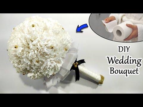 DIY Tissue Paper Flower Bouquet - Best Bridal Bouquet Ideas 2019 - Wedding Bouquet