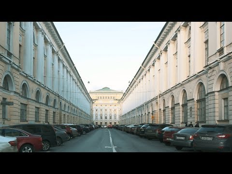 The Most Symmetrical Street (Architect Rossi St.) in Saint Petersburg, Russia