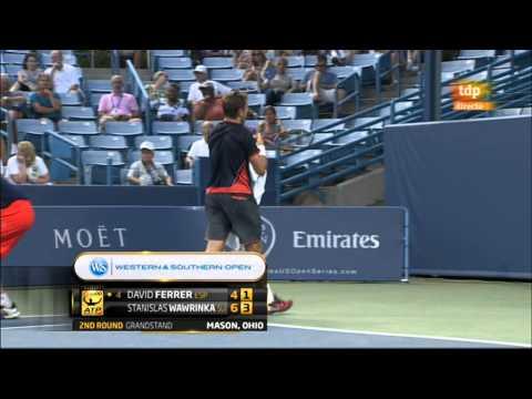 David Ferrer vs Stanislas Wawrinka (ATP Masters 1000 Cincinnati 2012) 2/2