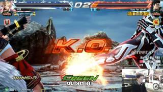 2017/03/17 Tekken 7 FR Rank Match! Knee (Lucky Chloe) Vs Saint (Dragunov)