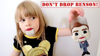 Don't Drop Benson The Dummy from Toy Story 4! Penelope turns into a DUMMY! Play with My PB and J