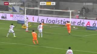 Raiffeisen Super League: FC Sion 3:3 Grasshoppers Zürich (17. Spieltag, 29.11.14)