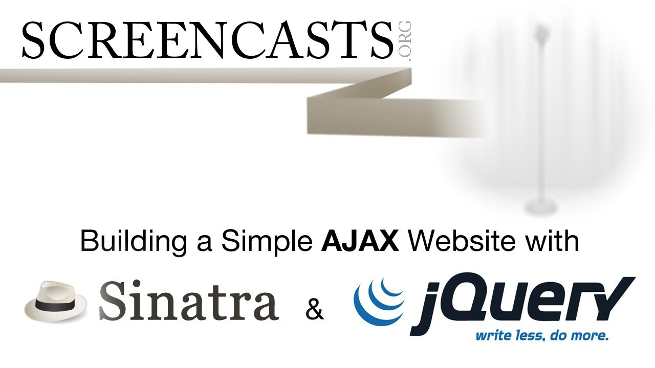 Building a Simple AJAX Website with Sinatra & jQuery - Free Quality