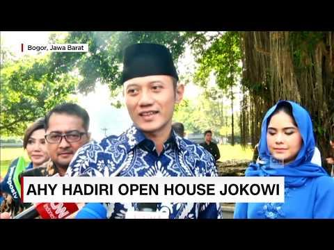 AHY & Istri Hadiri Open House Presiden Jokowi di Istana Bogor