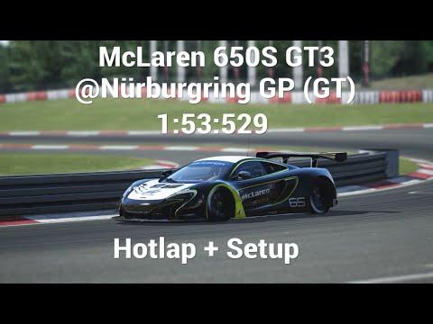 assetto corsa ps4 mclaren 650s gt3 @nürburgring gp (gt) hotlap+setup