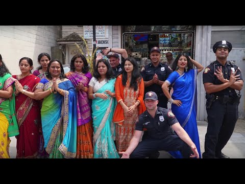 Jersey City Police participate in Indian Cultural Dance
